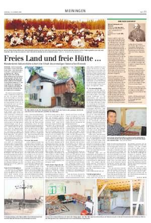 Screenshot Meininger Tageblatt 10. Oktober 2009